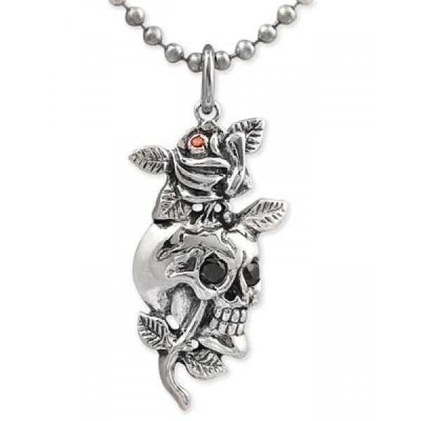 Ed Hardy Store UK Jewelry Pendant Skull Rose