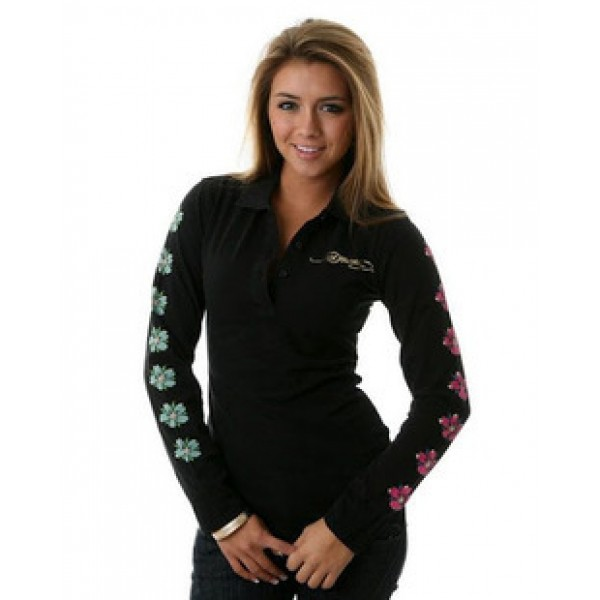 Black Ed Hardy Long Sleeve Geisha For Women UK Shop