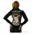Black Ed Hardy Long Sleeve Geisha For Women UK Shop