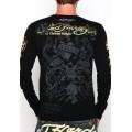 Black Long Sleeve Men Ed Hardy Tiger Prints Website