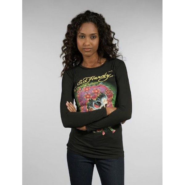 Black Shop Ed Hardy Long Sleeve Womens Canada