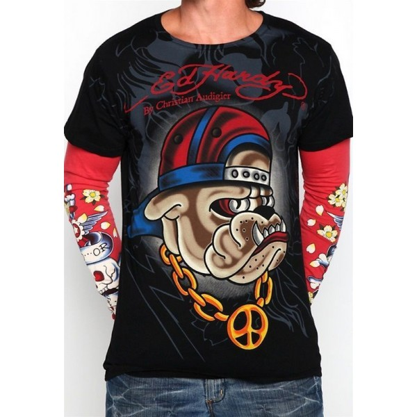 Dog Shop Ed Hardy Long Sleeve Mens Online Black