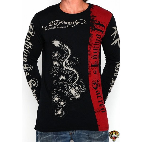 Ed Hardy Long Sleeve China Dragon Black For Men