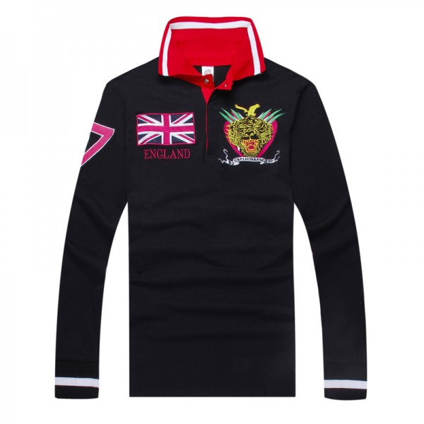 Ed Hardy Long Sleeve England Black For Men