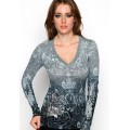 Ed Hardy Long Sleeve For Women Design Grey