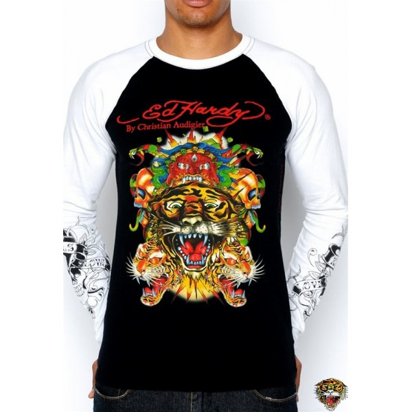 Ed Hardy Long Sleeve Tiger And Leopard For Men