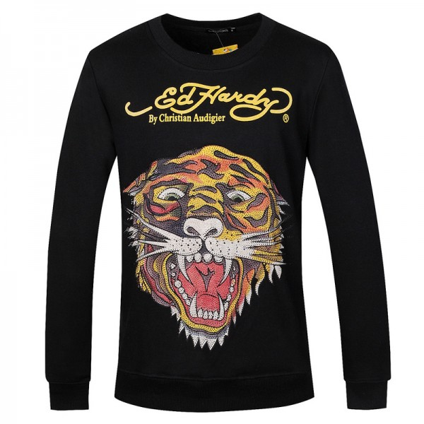 Ed Hardy Long Sleeve Tiger Black For Men