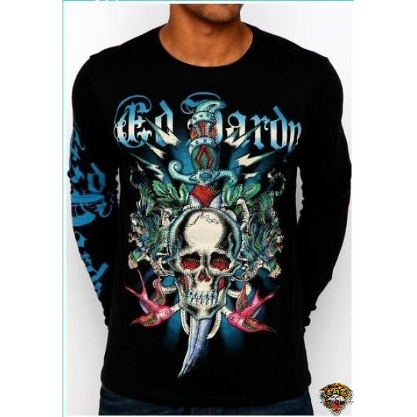 Ed Hardy Long Sleeve Tiger Dagger Skull For Men