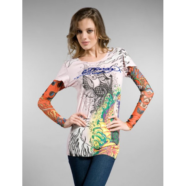 Ed Hardy Long T Shirt White For Women Store Online