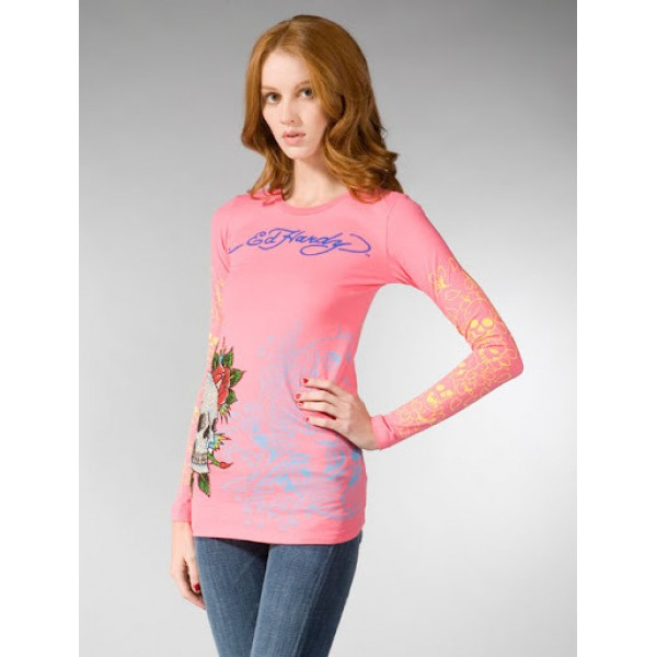 Ed Hardy Long T Shirt Womens Pictures Pink
