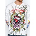 Ed Hardy Men Long Sleeve Factory Outlet LKS White