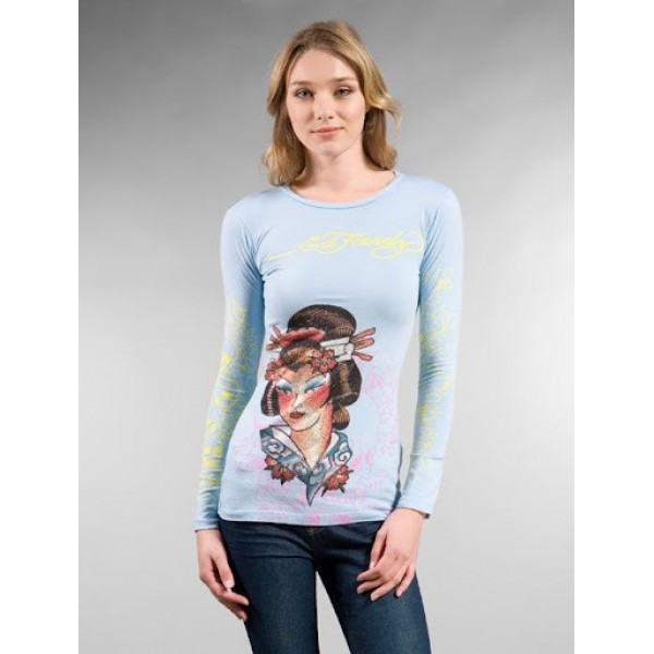 Geisha Don Ed Hardy Long Sleeve Ladies Shop UK