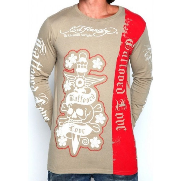 Love Don Mens Long Sleeve Ed Hardy Australia