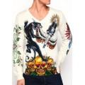 Men Ed Hardy Clothing UK Long Sleeve Leopard CA