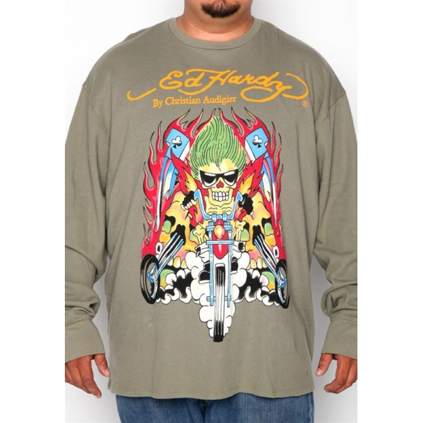 Mens Long Sleeve Pictures Of Ed Hardy Punk