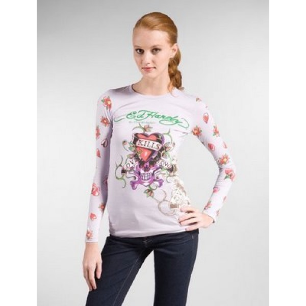 Purple Ed Hardy Long Sleeve Womens San Francisco