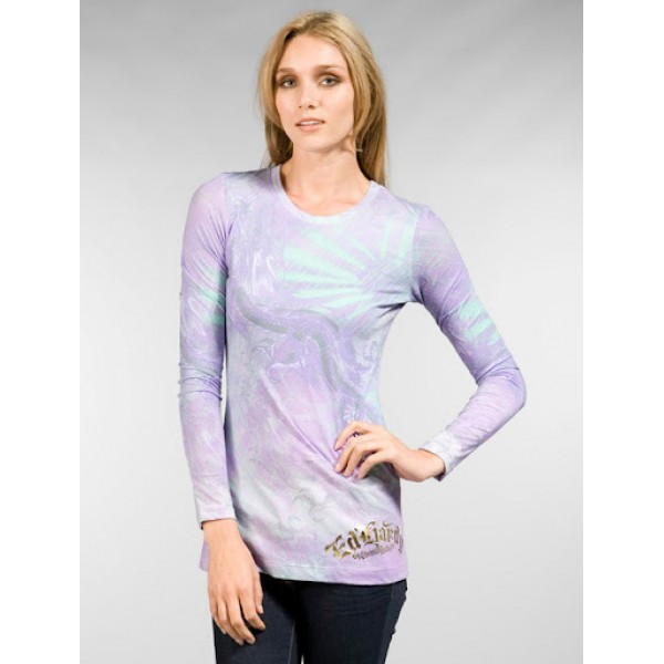Purple Ed Hardy Womens Long Sleeve Factory Outlet