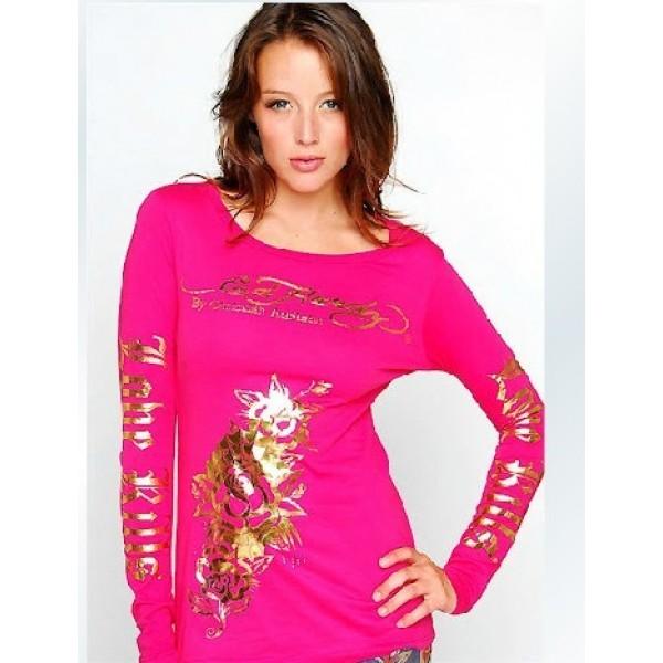 Rose Red Ed Hardy Ladies Long Sleeve Online Shop