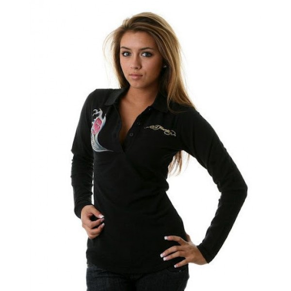 Where To Buy Ed Hardy Womens Long T Shirt Black
