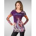 Womens Don Ed Hardy Long Sleeve Purple For Sale