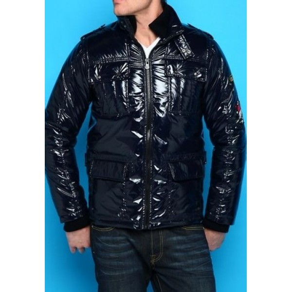 Light Black Ed Hardy Factory Outlet Mens Padded Outwear
