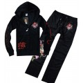 Black LKS Don Ed Hardy Mens Suits Online Store