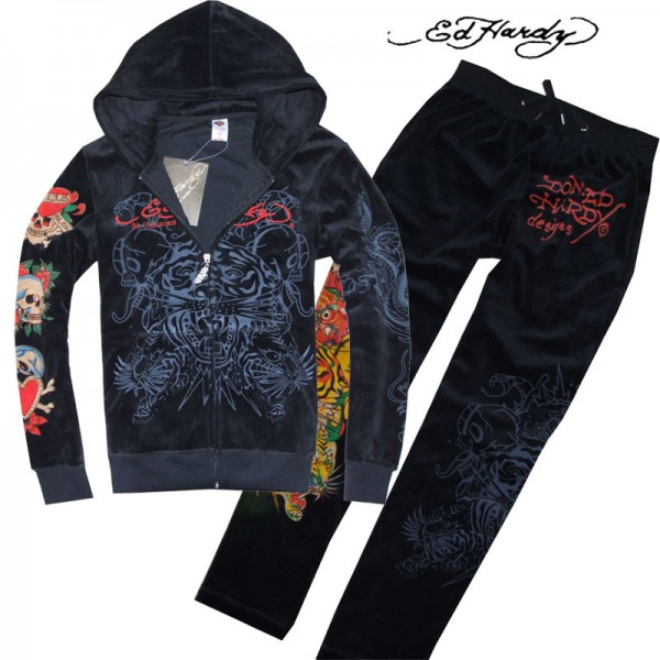 Don Ed Hardy Mens Suits Black Blend Sale