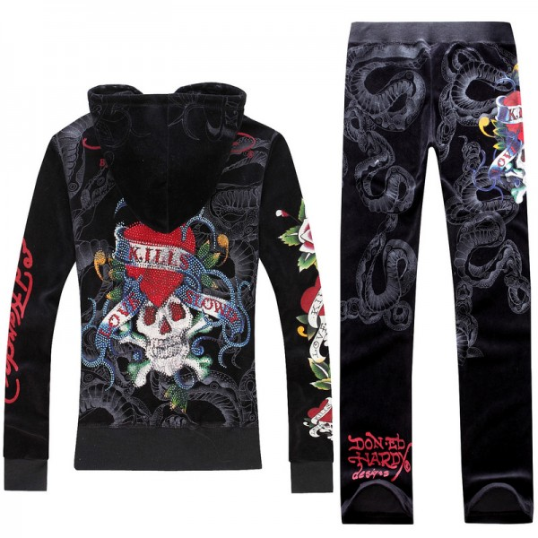 ED Hardy Long Suits Diamond Love Kill Slowly Black For Women