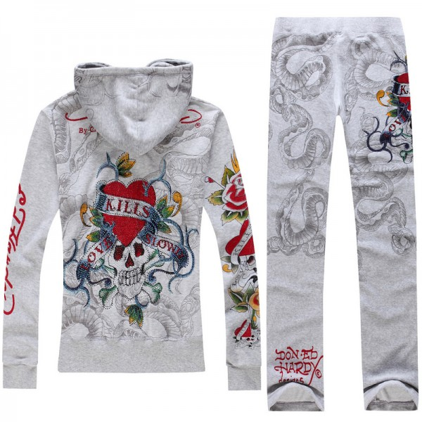ED Hardy Long Suits Diamond Love Kill Slowly Grey For Women