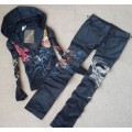 ED Hardy Long Suits Leopard Roses Black For Women