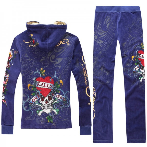 ED Hardy Long Suits Love Kill Slowly Blue For Women