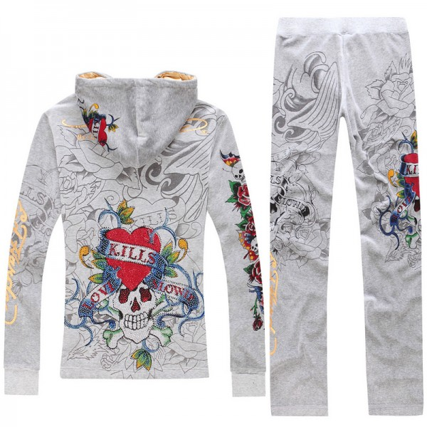 ED Hardy Long Suits Love Kill Slowly Rose Grey For Women