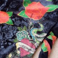 ED Hardy Long Suits Peacock Roses Black For Women