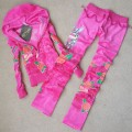 ED Hardy Long Suits Peacock Roses Pink For Women