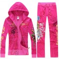 ED Hardy Long Suits Phoenix Roses Rose Red For Women