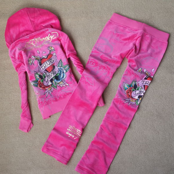 ED Hardy Long Suits True Love Pink For Women