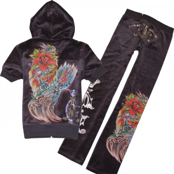 ED Hardy Short Suits Christian Audigier Chocolate For Women