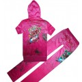 ED Hardy Short Suits Diamond Flowers Rose Red For Women