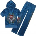 ED Hardy Short Suits Love Kill Slowly Blue For Women
