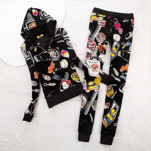 ED Hardy Womens Long Suits Accessories In Black
