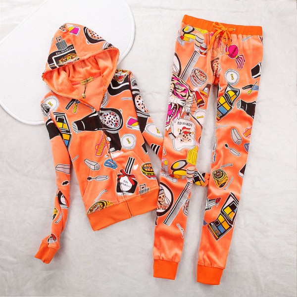 ED Hardy Womens Long Suits Accessories In Orange