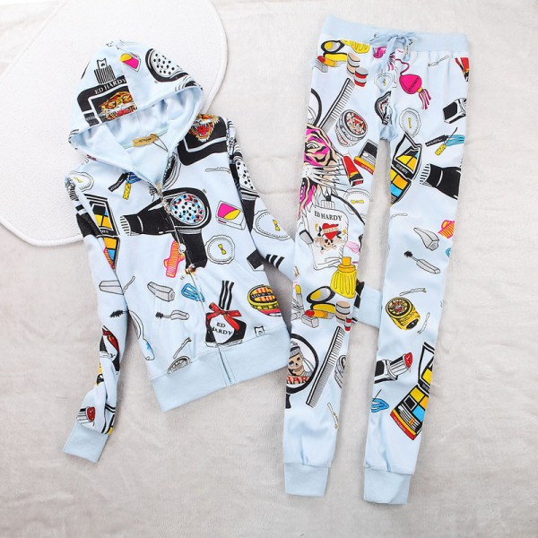 ED Hardy Womens Long Suits Accessories In White