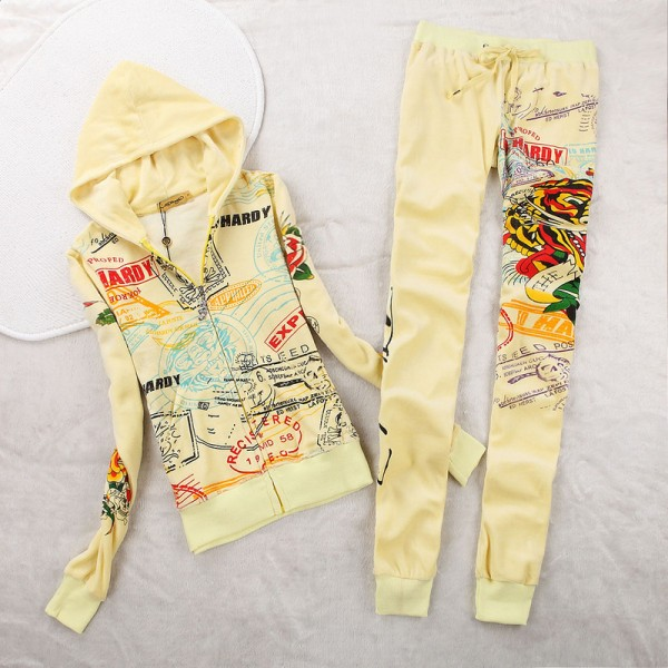 ED Hardy Womens Long Suits Tiger Express In Yellow