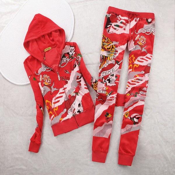 ED Hardy Womens Long Suits Tiger ZEKE In Red