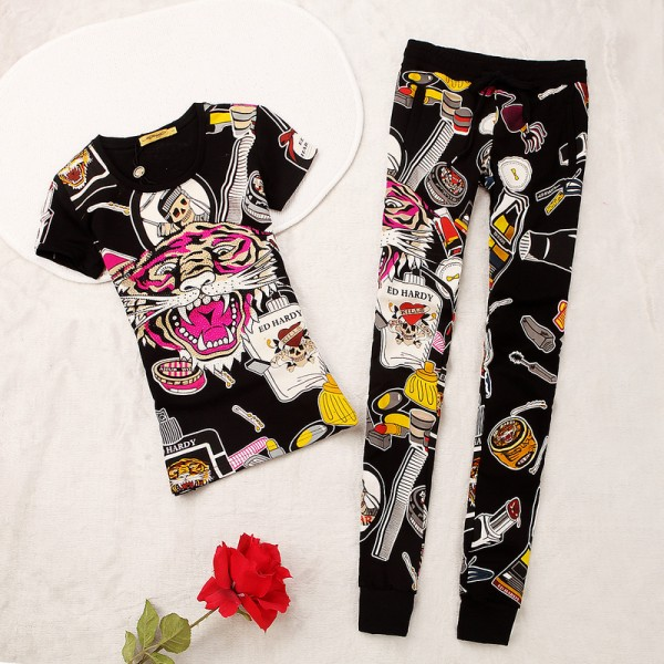 ED Hardy Womens Short Suits Accessories In Black