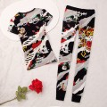 ED Hardy Womens Short Suits Tiger ZEKE In Black