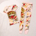ED Hardy Womens Short Suits Tiger ZEKE In Pink