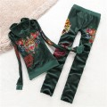 ED Hardy Womens Long Suits Dagger Wing Tiger In Green