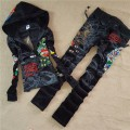 ED Hardy Womens Long Suits Peacock Love In Black