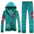 ED Hardy Womens Long Suits Rose Red Tiger Logo In Blue